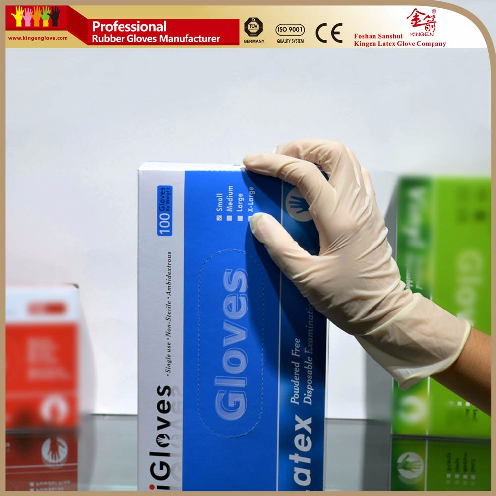 China medical latex examination gloves natural rubber latex