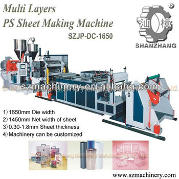 Multi layers PS Sheet Extruder cup making machine