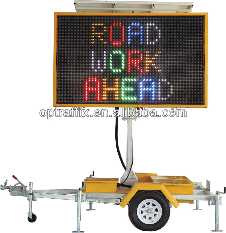Solar Power Movable Outdoor Avdertising LED Display Screen sizeB