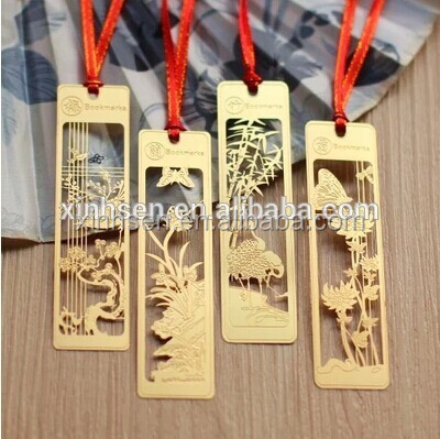 Custom laser cutting metal bookmarks with competitive price