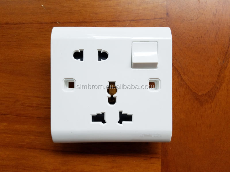 Electrical Wall Switch Socket Simbrom Brand - Buy Universal Switch ...