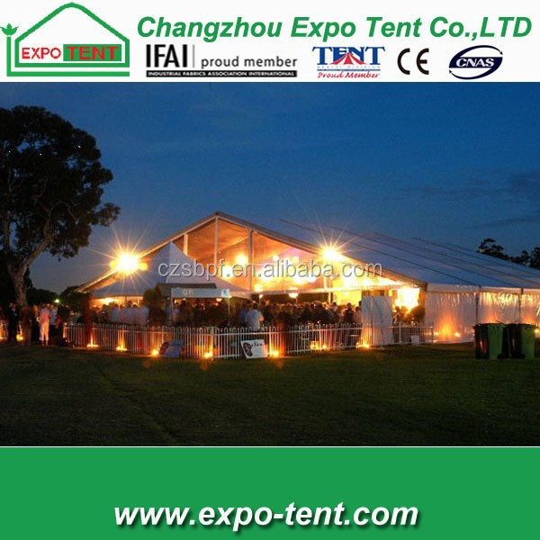 Wedding party marquee tent lighting