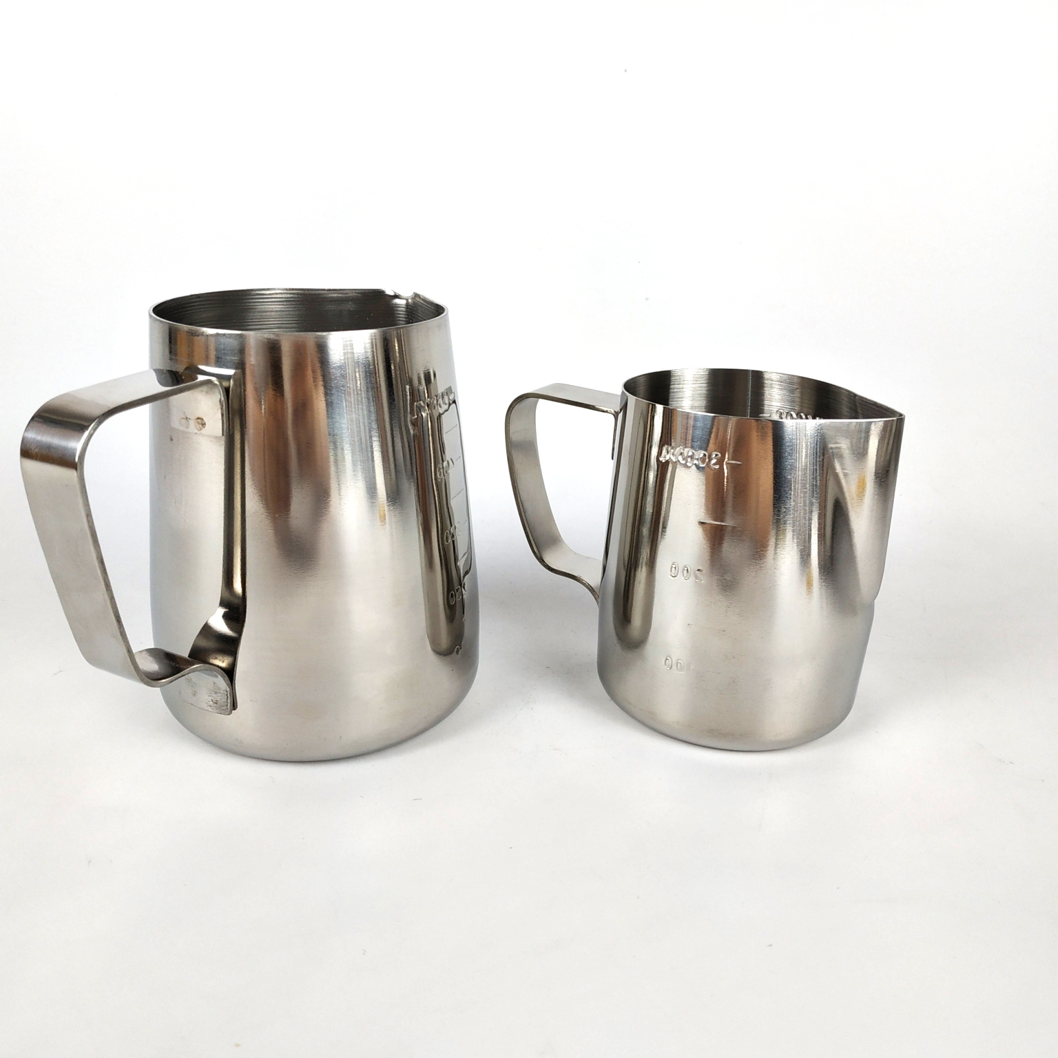 304 Stainless Steel Measuring Function Milk Frothing Jug Beer Mug