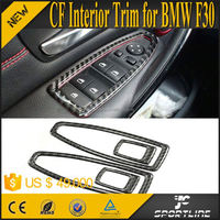 4PCS/SET Carbon Fibre Door Window Regulator Trims for BMW NEW 3series 10-15 Interior Decoration