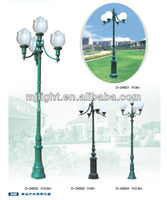 aluminum garden outside light pole base with big lampshade