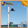Black color lamp used in garden solar light with post