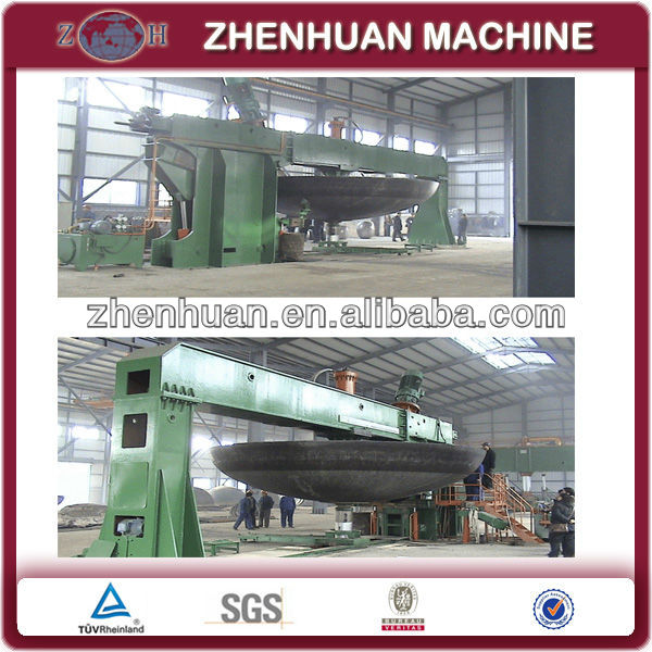 tank head pressing and flanging machine