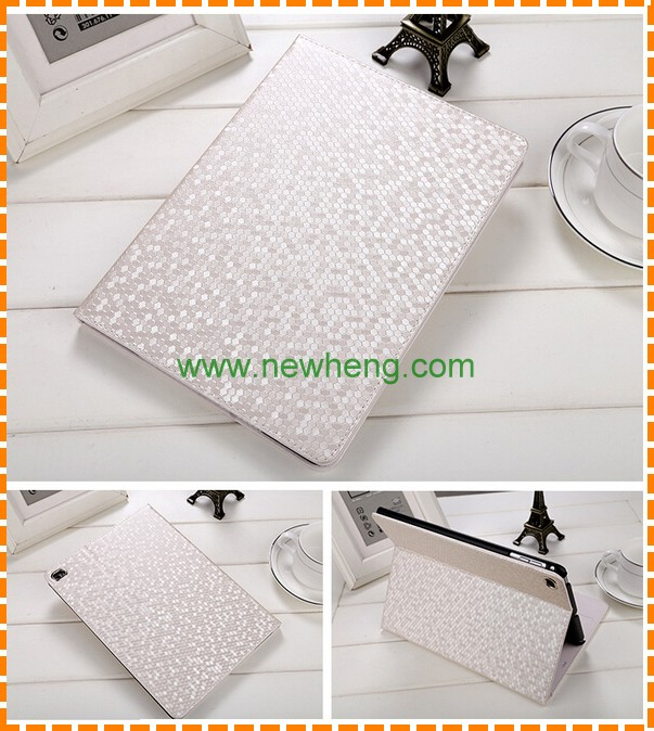 New Diamond skin leather flip wallet case cover for ipad mini 4