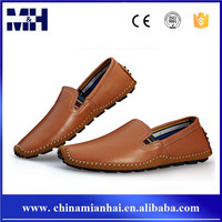 Latest European Brown Genuine Leather Loafer Citi Trends Shoes For Men