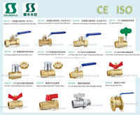 SSF30470 male femail Brass ball valve for water, oil, gas
