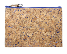 2016 New Cork Clotch Zipper Pouch Cosmetic Bag Cork Cloth Makeup Pouch