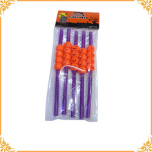 High Quality Festival 3D Pumpkin Skull Drinking Straw For Halloween
