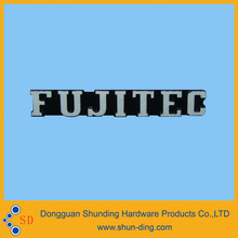 Good looking diamond cutting raised company logo nameplate