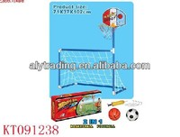 Shantou Farah Toys Hot Sale Football gate commix with basketball shelf funny play toys