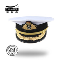 Fitted military strategic missile artillery lieutenant general hat with black flap