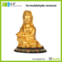 Religious Kwan Yin statue 3D activated carbon carving crafts as car decoration and business gift