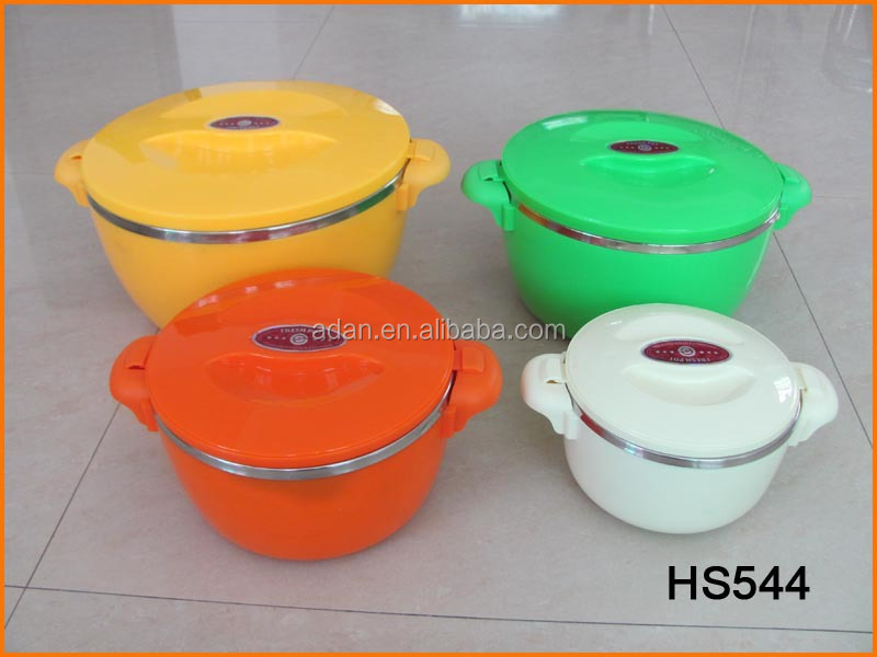 HS544 8pcs Multi-use Stainless Steel Fresh Pot and Thermal Hot Pot
