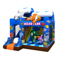 GMIF70915077 Nice appearance ocean park theme inflatable jumping with slide inflatable bouncer&combo