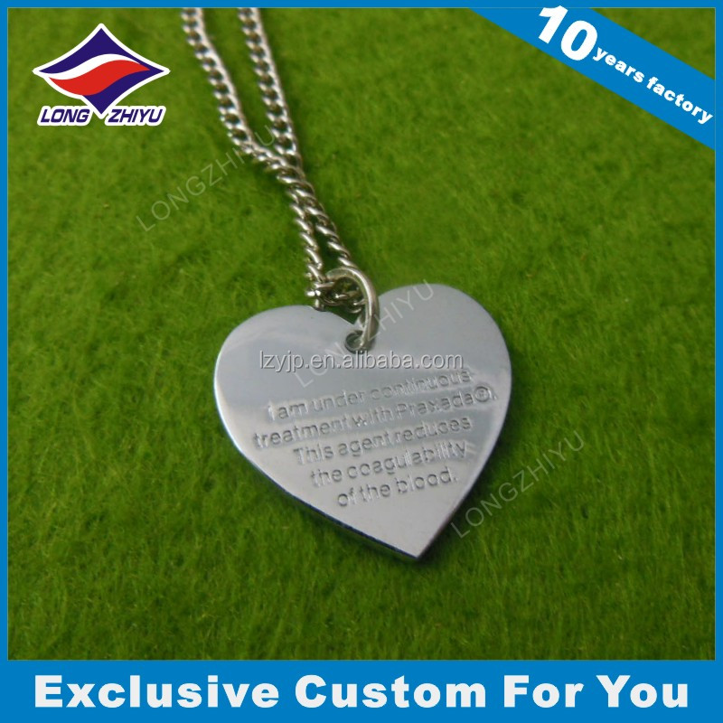 Heart Shape Engraved Dog Name Tags From China Supplier