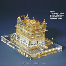 indian golden temple model in crystal JB006