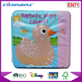 Cute animal printing EVA and PVC plastic waterproof baby bath book,color change bath book