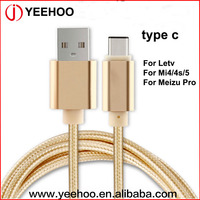 super speed charging and data cable usb 3.1 type c cable for Letv Mi4/4s/5 Meizu Pro
