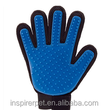 Eco-Friendly Feature Pet Dog Five Finger Grooming Washing Glove Brush
