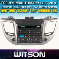 WITSON DVD HEAD UNIT FOR HYUNDAI TUCSON ix35 2016 WITH 1080P CAPACITIVE SCREEN WIFI 3G DVR OBD TPMS MIRROR LINK