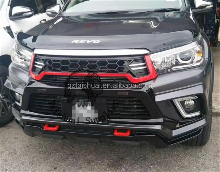 toyota hilux revo 2016 abs front grille with LED daytime running light for hilux 2016 car accessories