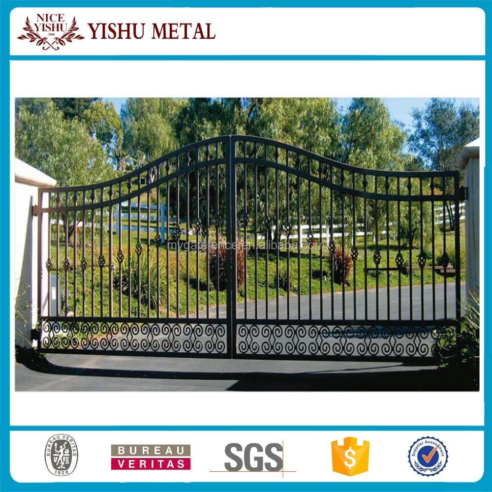 Residental new house modern decorative laser cut main gate designs