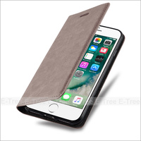 E-Tree brand original skin good feel touch vintage strong magnetic leather case for iphone 7 flip cover