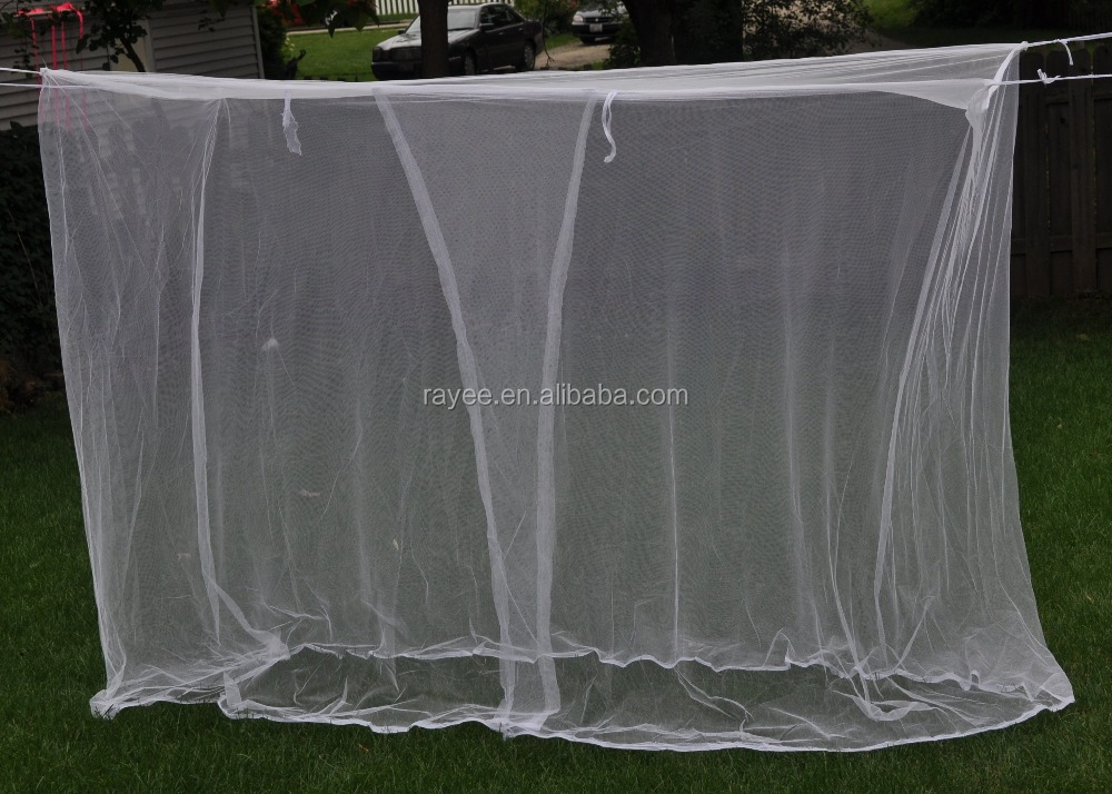 100%polyester white color rectangular mosquito net for twin, full, queen and king size beds