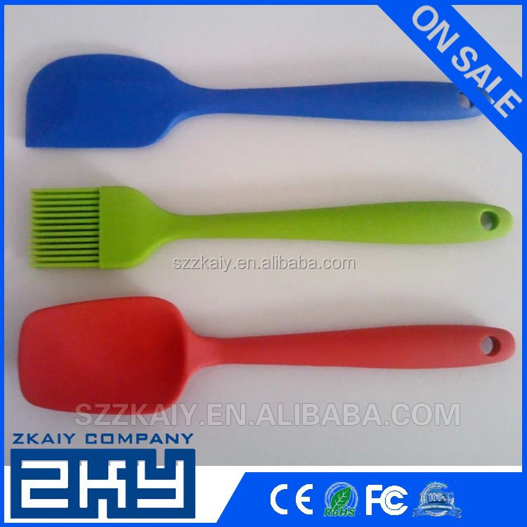 Supply silicone spoon/ silicone Spatula/ silicone butter brush set for bbq