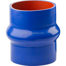 High Temperature Large Diameter Blue Straight Single Hump Silicone Hose