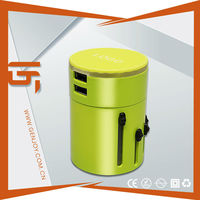 Newest Arrival girlfriend birthday gifts----2 USB 3000mA travel adapter plug 220v 16a Mirror Surface A1423