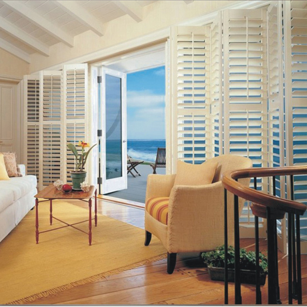 Wholesale Half Price China Blinds Factory Custom Outdoor Wood Window Plantation Shutters Canada