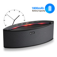 Powerful Stereo Sound Speaker LED Wireless speaker with FM Radio TF card