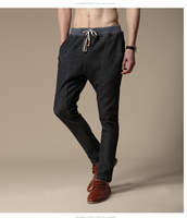 New fashion men's casual slim and fit men's Korean high-elastic pants made in cotton with high quality