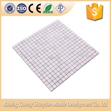 Natural Stone White Square Marble Mosaic Tile Sheet