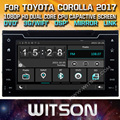 WITSON CAR DVD GPS For TOYOTA COROLLA/AURIS 2017 WITH STEERING WHEEL CONTROL FRONT DVR CAPACTIVE SCREEN