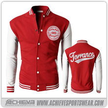 custom made sublimation print nylon/polyester varsity jackets