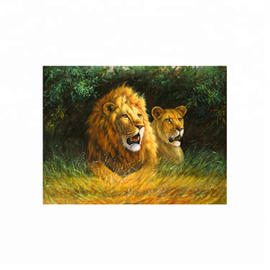 High definition 3d lenticular picture of lion