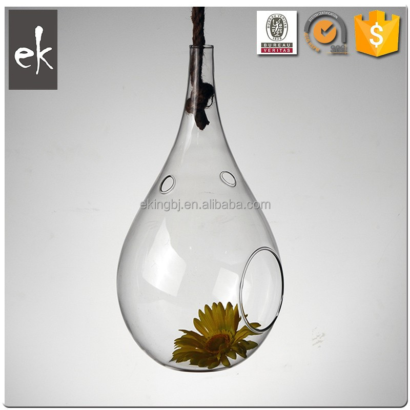 New Design Fashion Low Price Square Hanging Glass Vase