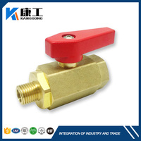2016 New Design Pump Water Supply Brass Globe Welding Ball Valve