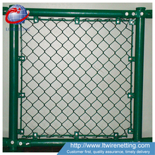 cheap price 9 gauge green vinyl coated chain link fence