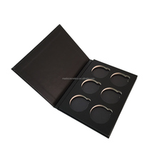 Private lable Stamping paper box empty magnetic makeup eyeshadow palette
