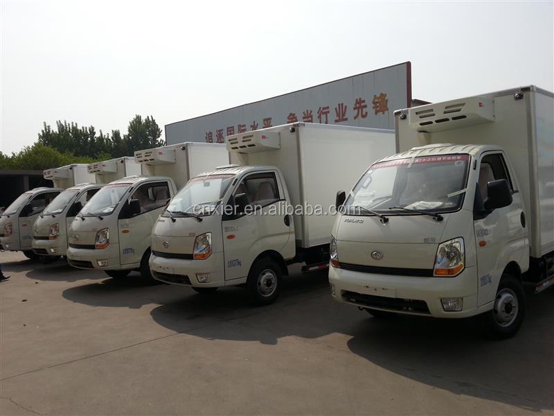FRP/GRP fiberglass truck body/ Refrigerated cargo box/van truck body for fish