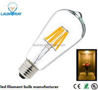 2016 New Model Hot Sale Cheap Price Strong Quality ST64 LED Filament Dimmable Bulb 8W 6W 4W With CE RoHS UL listed