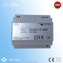 12v 100w Din Rail Switching Power Supply SN-100-12 with ce&rohs