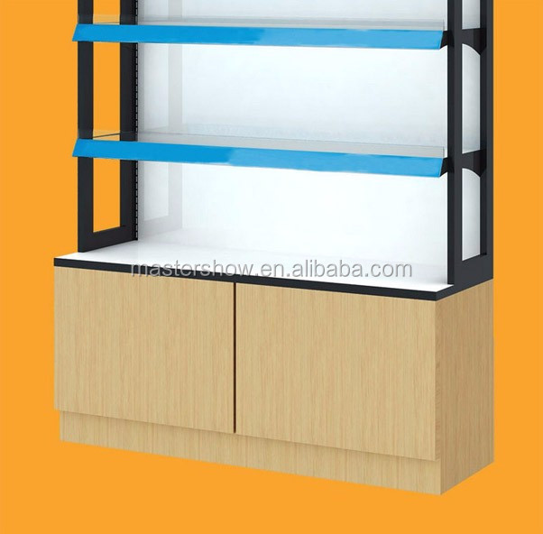New design wood shop counter cosmetic makeup counter for cosmetics store